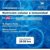 Reposted from @aceleratumetabolismo ‼‼ ⚠️ Esta tarde ( Jueves 30 de Julio) a las 19:30, conversaremos con Marcos Carrasco, director de @wellpluschile sobre Nutrición celular e inmunidad⁉️Sabes que es la inflamación celular y porque la tienes que controlar? . 🔹️Conversaremos de la relación entre aclamación celular e inmunidad 🔹️Control de Inflamación 🔹️Dieta inflamatoria 🔹️Suplementos y estilo de vida que ayuden a potenciar / mejorar inmunidad🔸️Diabetes = inflamación 🔸️Dolor crónico= inflamación 🔸️Artritis =inflamación 🔸️Alergias = nflamación⚠️⚠️No te le vayas a perder….‼ . . . #coachinglowcarb #aceleratumetabolismo #saludeintestino #Nutriticionysaludintestinal #omega3 #fattydacids #dietadesinflamatoria #saludintestinal #singluten #Saludable #chile #ChileSaludable #probioticos