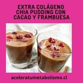 """Reposted from @aceleratumetabolismo 💪CHIA Pudding reforzado con colágeno y cacao crudo +frambuesasAyer almorcé tarde y no tenía ganas de comer en la noche 🍫 Tenía ganas de algo tipo postre, pero nutritivo, así que la elección fue este Chia pudding reforzado con colágeno Lo hice con leche de coco, vainilla (Nomu) , y cacao amargo pacarí (crudo) + 2CD semillas chía y 1CD de linaza + 2 scoops de colágeno (20 g aprox)El ideal es dejar remojando la chía y la linaza la noche anterior o un par de horas antes para activar las semillas Se pueden activar en agua, leche vegetal o mejor aún, yogurt de coco hecho con mis cultivos de @yogustart (o con kefir) y con eso además ponen dosis extra de #probióticos🥥Las semillas y los MCT MCT oil de la leche de coco son altamente compatibles con tu salud intestinal (ideal para los constipados) 🍓🍓Para sabor extra y contraste agregué un puñado de frambuesas congeladasSobre el Cacao: El cacao es alto en triptófano, un aminoácido precursor de serótina, que es el neurotransmisor """"de sentirnos bien"""". Sobre todo en mujeres que vamos en una montaña rusa hormonal durante nuestro ciclo menstrual, esto es una gran ayuda. 😍💪 El cacao tiene anandamina, un neuro transmisor químicamente parecido a la marihuana, que ayudan a provocar euforia, y sentirnos bien. Por eso habemos varios adictos al chocolate🍫🤣💜 Se dice que el chocolate es afrodisiaco, porque tiene feniletilendiamina (PEA por sus siglas en inglés) que también es un neuro transmisor, que que el cuerpo produzca endorfinas conocidas como hormonas del placer….Nada malo cierto⁉️Y el cacao crudo, tiene los mismos beneficios del cacao, pero más aún Ya que conserva los altos niveles antioxidantes (polifenoles) del cacao natural y también nutrientes como el hierro, zinc, magnesio, cobre y la vitamina C, de la misma forma que lo que pasa con los vegetales crudos, ya que no es sometido al proceso de calor al que se somete al chocolate tradicional💜🙌A disfrutar!!Mis ingredientes los pedí a @cambiatunutric"""